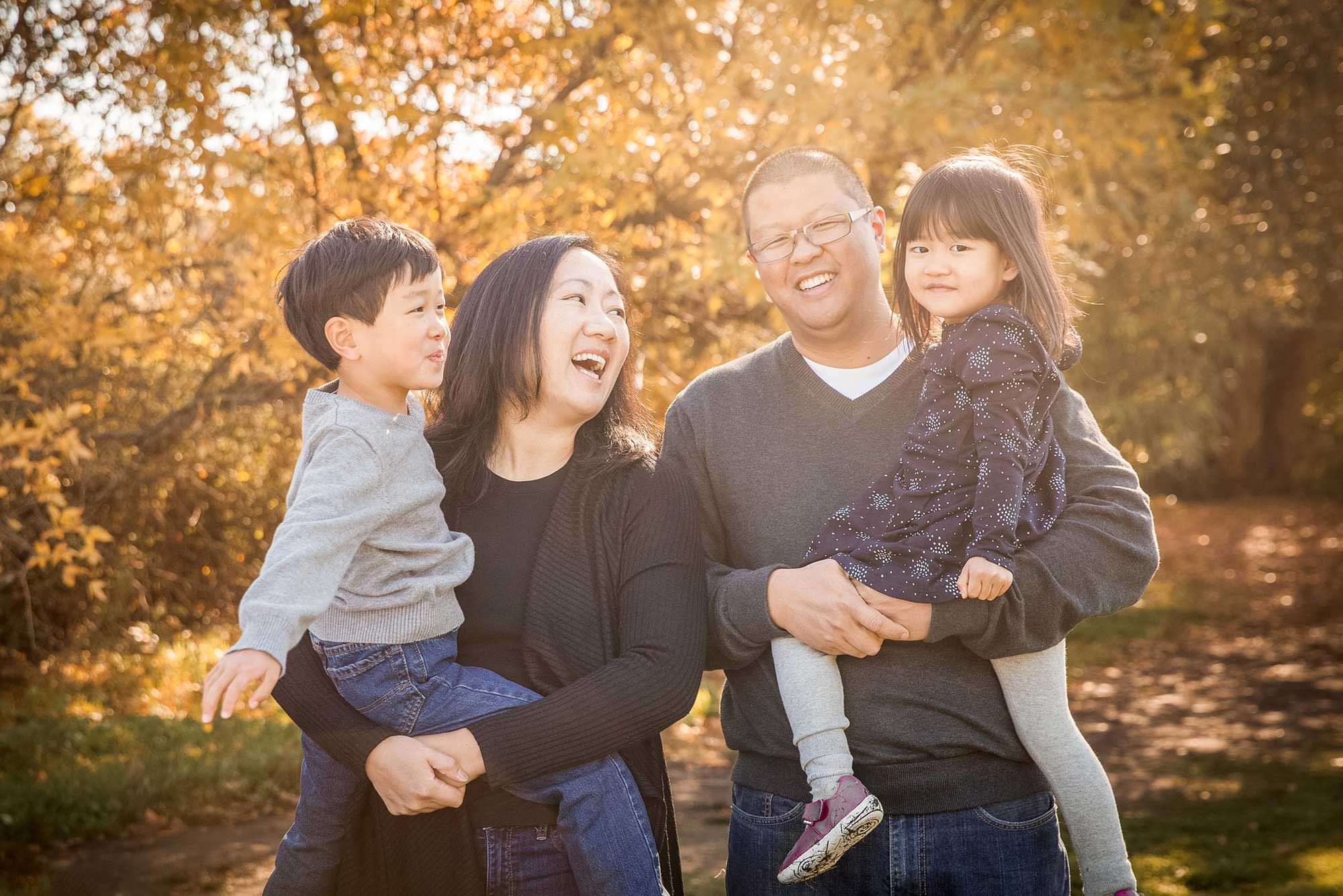 Fall trout Lake vancouver family photo session
