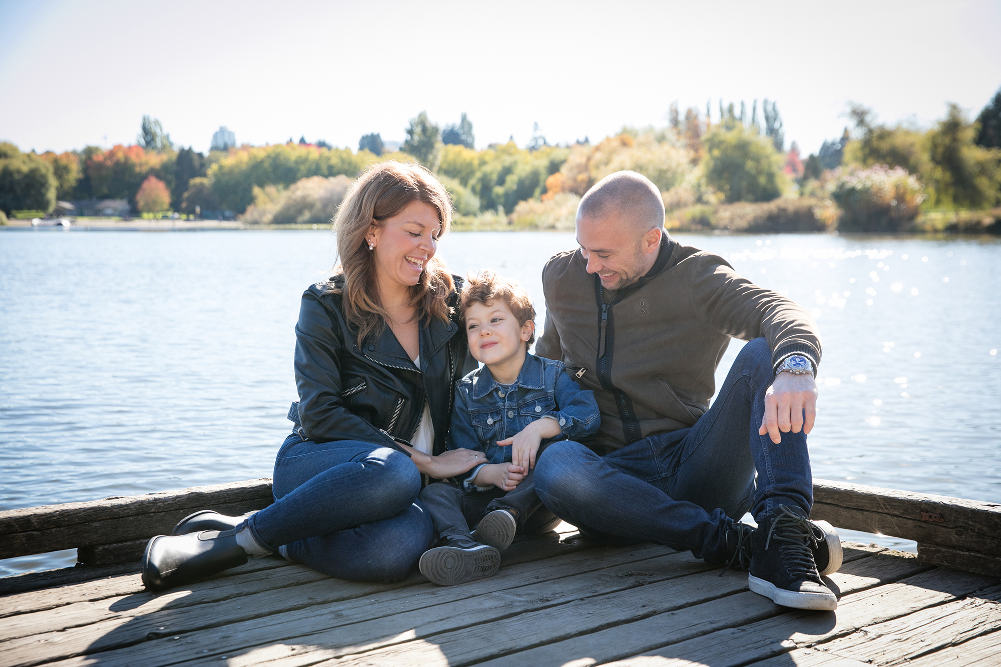 Trout Lake Vancouver Fall Family photo Session