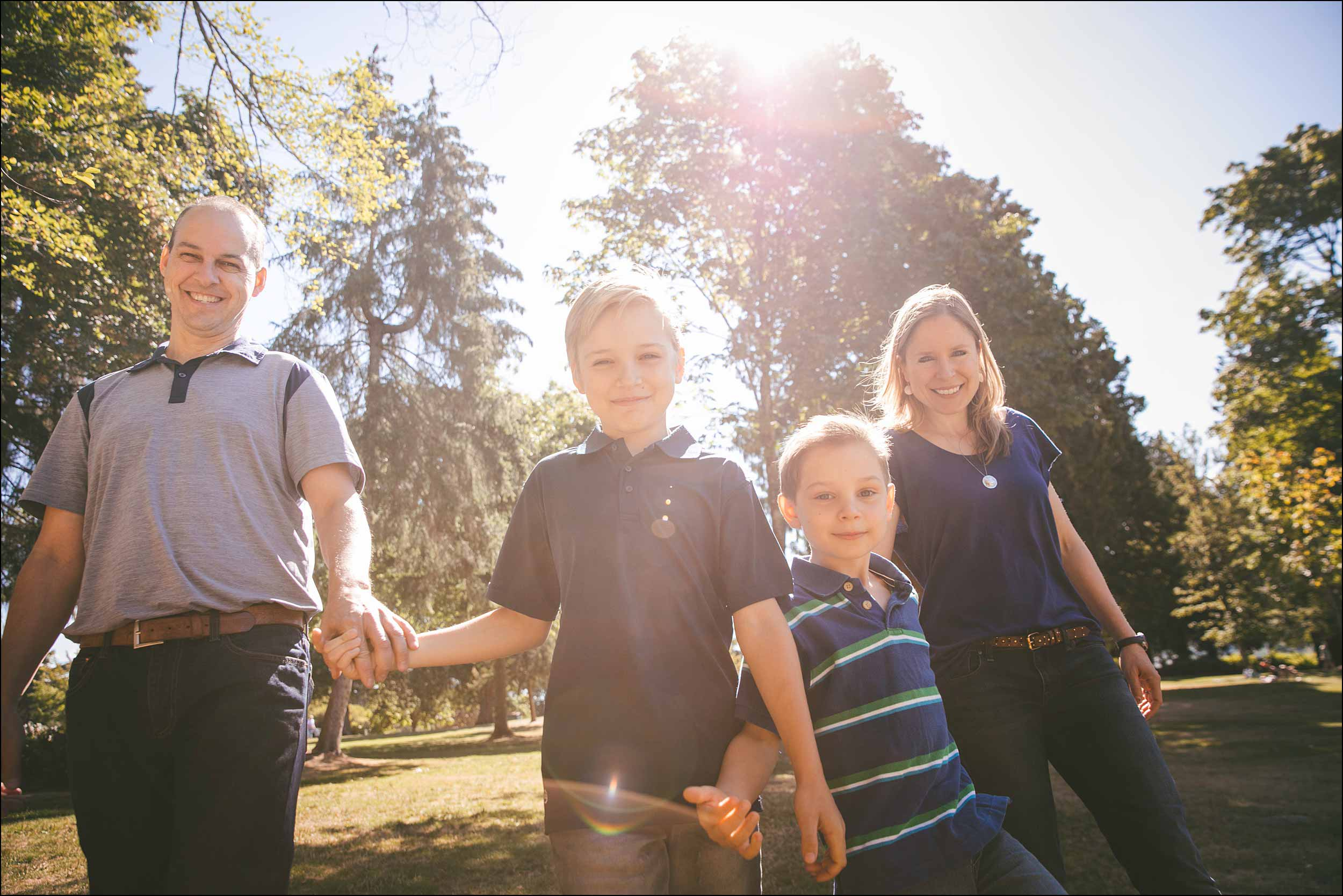 North Vancouver family photo session in a forest.